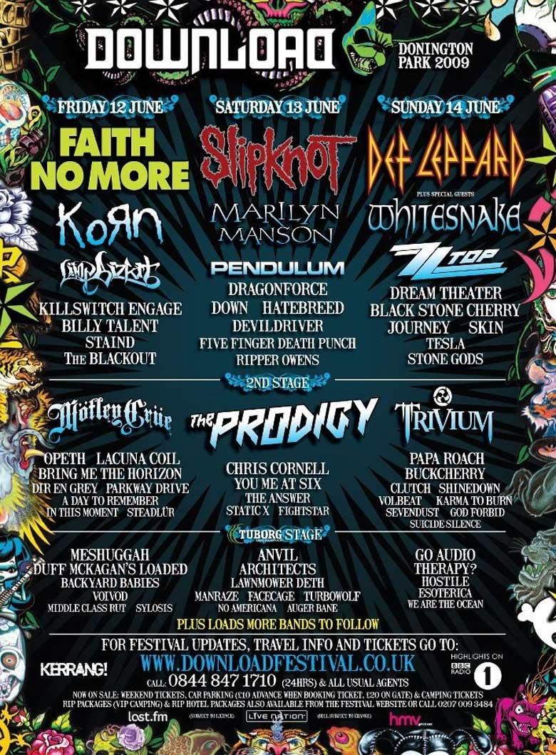 Festival Flashback Slipknot Download Festival 2009 Festicket Magazine