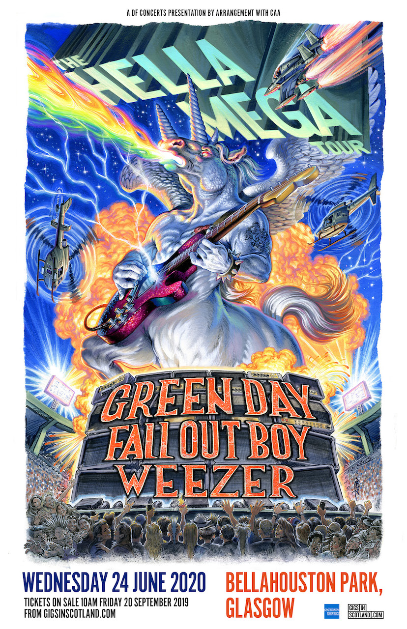 Green Day Tour 2020.Green Day Fall Out Boy Weezer Announce Glasgow Gig For