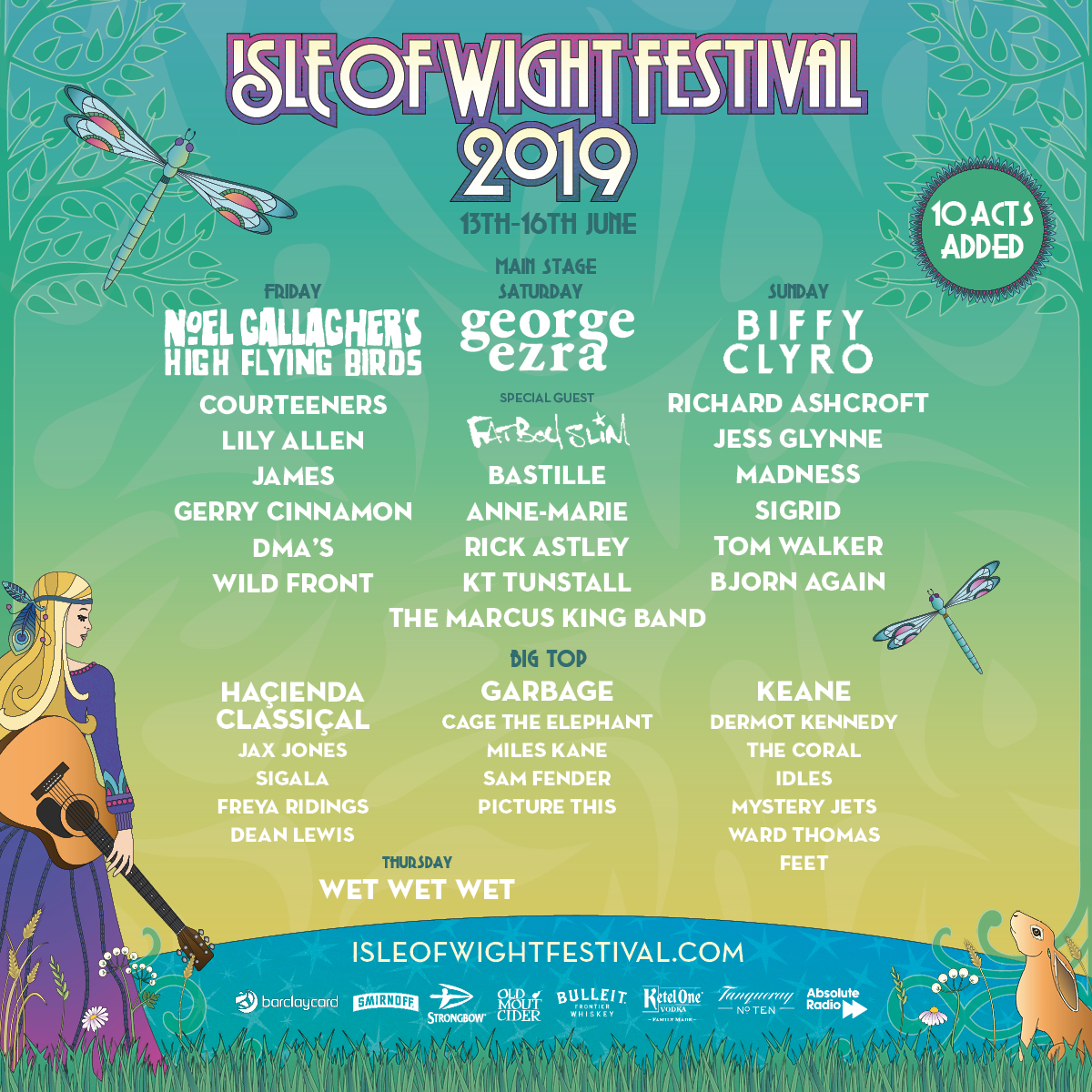 Isle Of Wight Festival Announces New Names For 2019