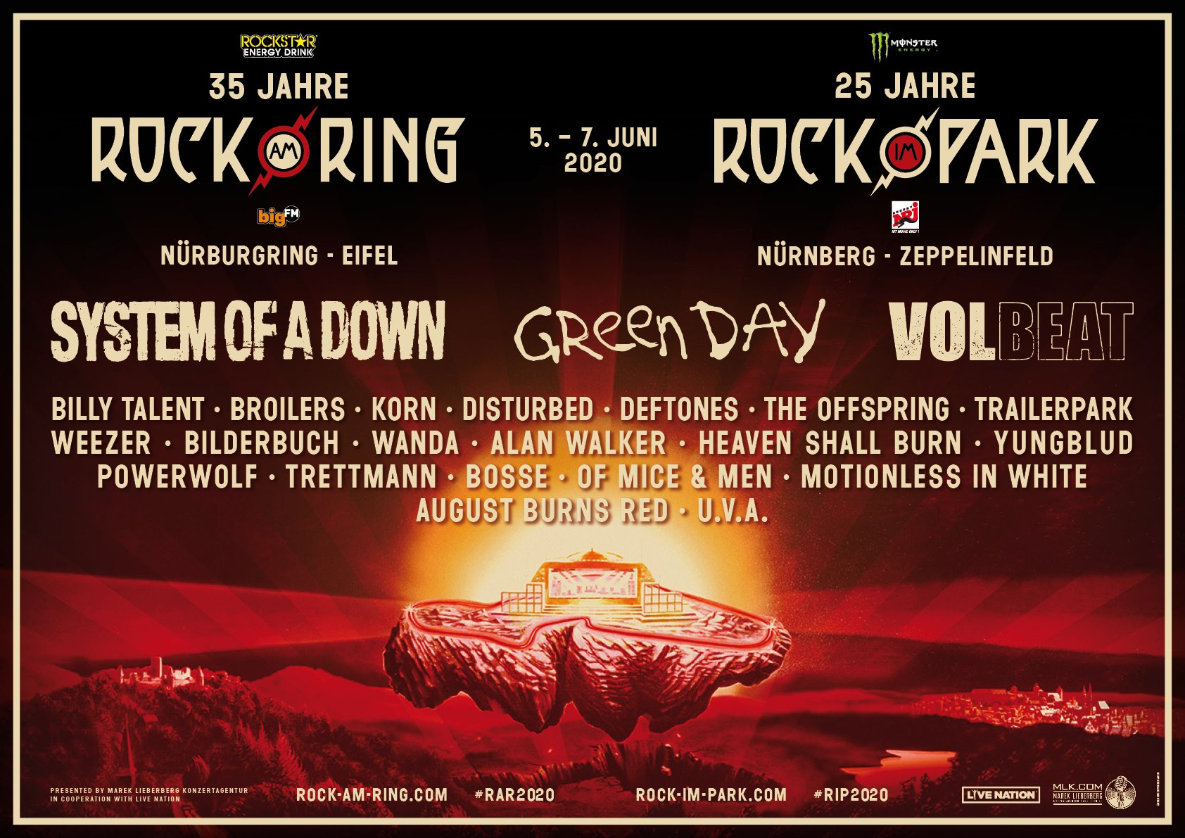 Rock am Ring/Rock im Park Reveal 2020's Initial Lineups ...