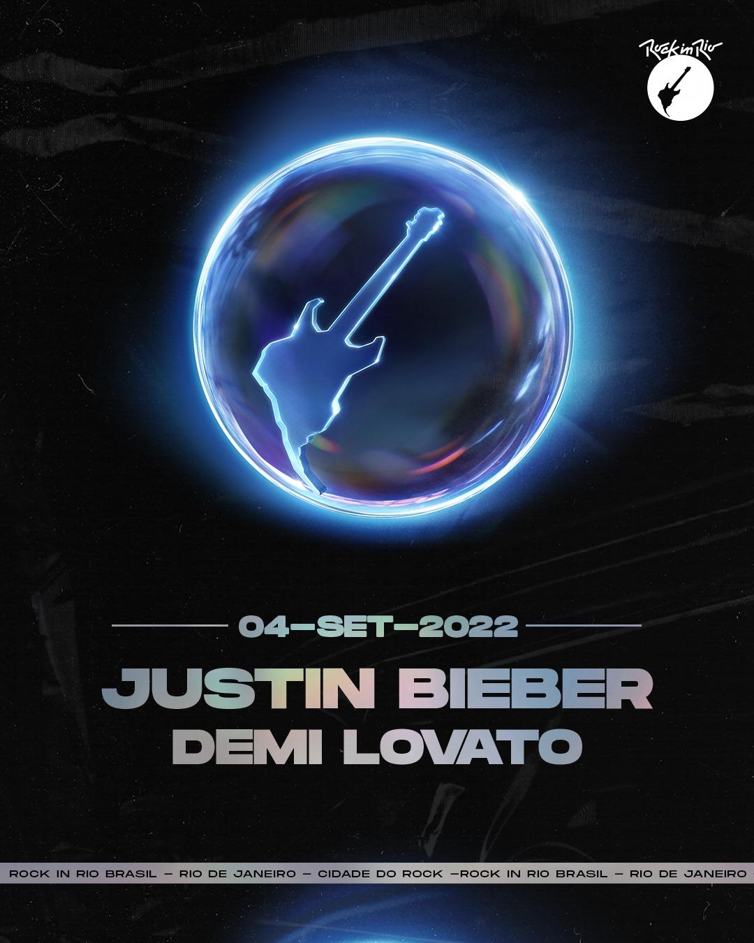 Justin Bieber & Demi Lovato Announced For Rock in Rio Brasil 2022 ...