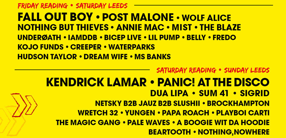Kendrick Lamar, Fall Out Boy and Kings of Leon to Headline Reading & Leeds 2018