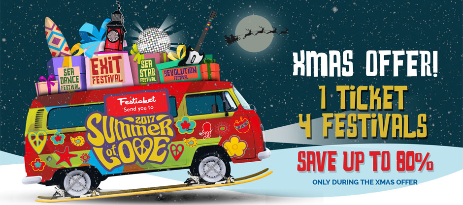 EXIT Festival Christmas Offer: One Ticket, Four Festivals