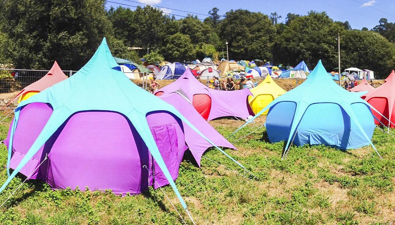 Ticket + Garorock - Sleep'em'All Camping - Lotus-Zelt
