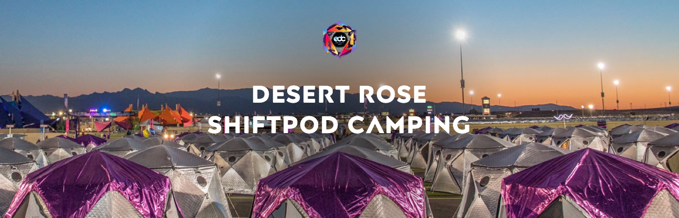 Ticket + Desert Rose Shiftpod Camping