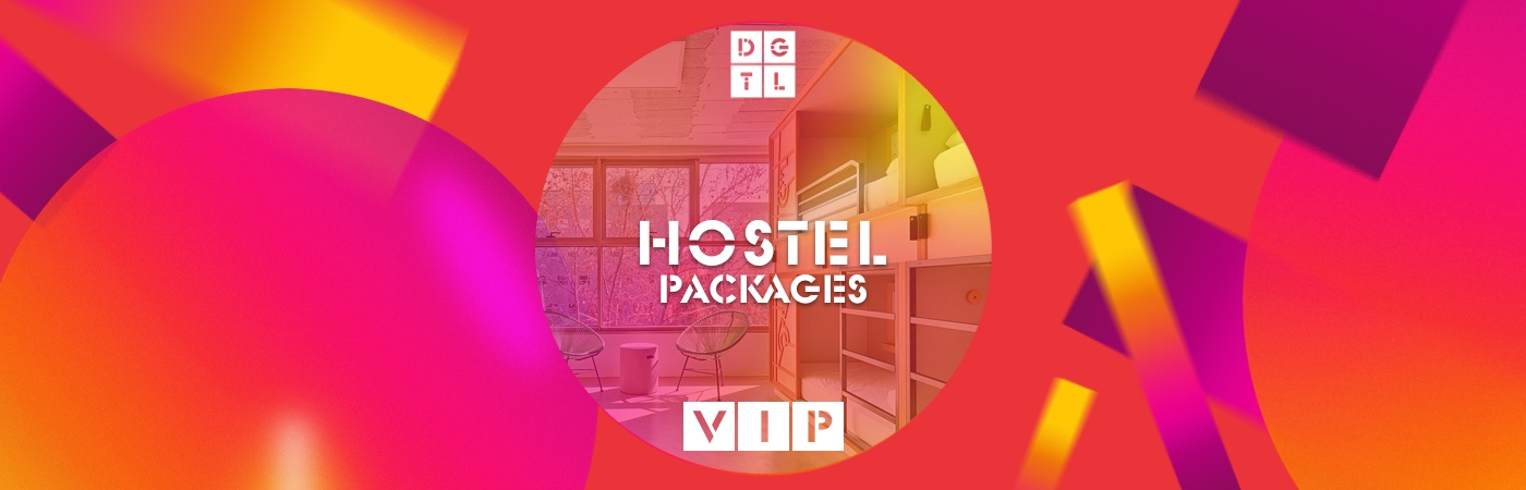 DGTL Barcelona VIP Ticket + Official DGTL Barcelona Hostel