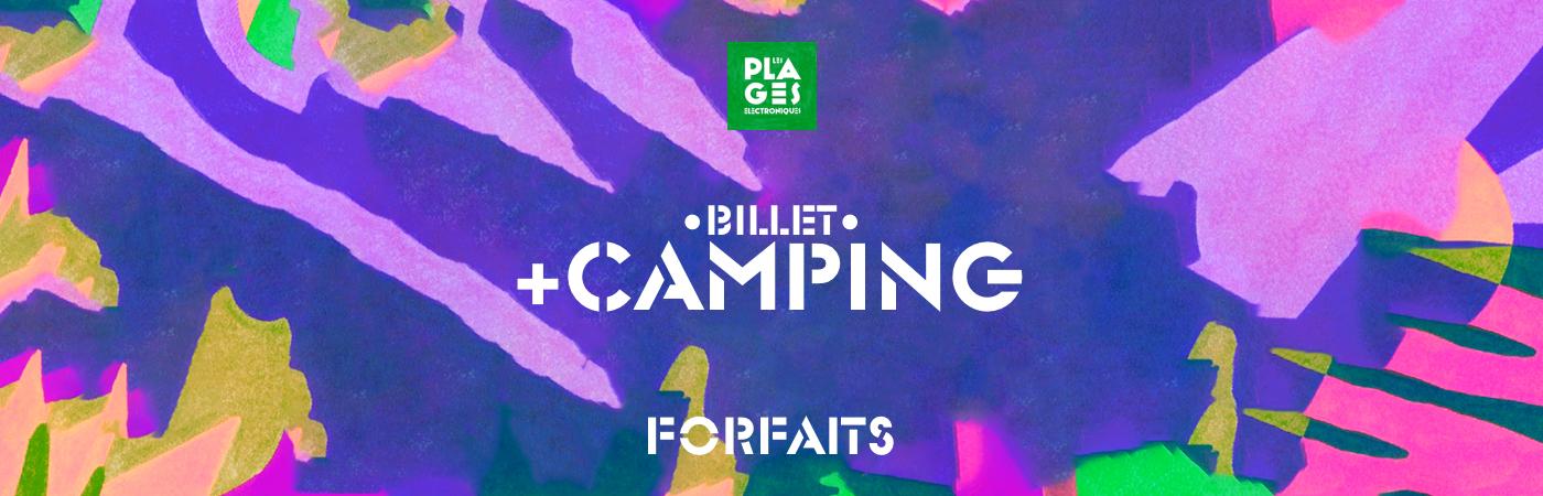 Packages Billet + Camping - Les Plages Électroniques