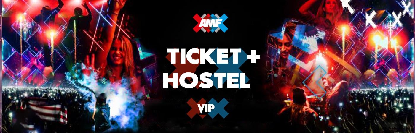 Pacchetto Biglietto VIP + Ostello AMF