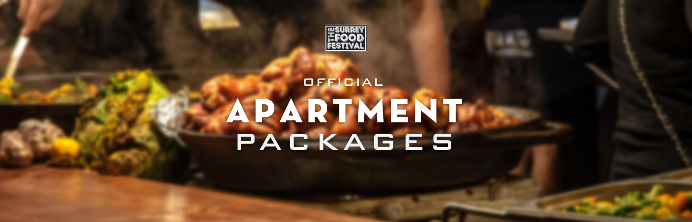 Packages Billet + Appartement - The Surrey Food Festival