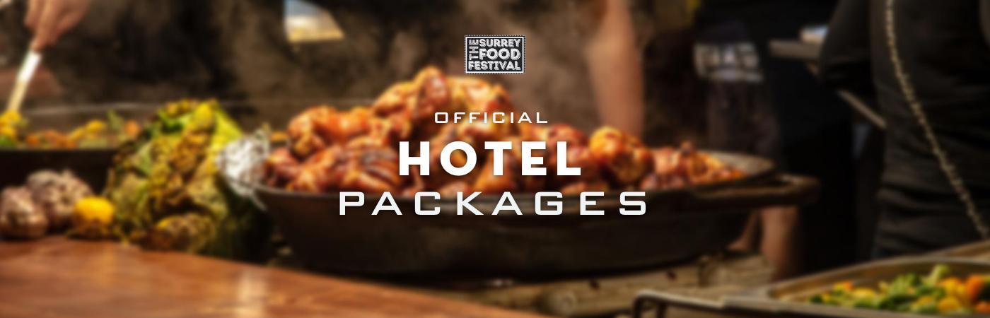 Packages Billet + Hôtel - The Surrey Food Festival