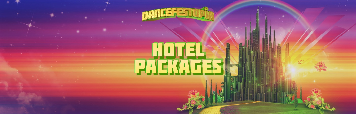 Dancefestopia Festival Ticket + Hotel Packages