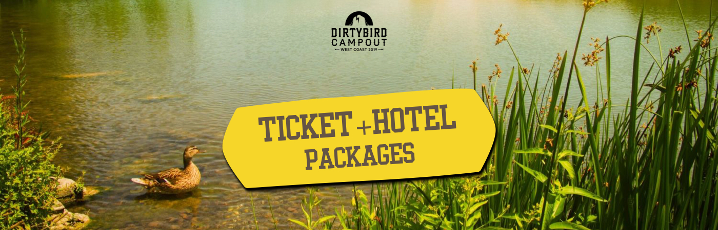 Dirtybird Campout Ticket + Hotel Packages