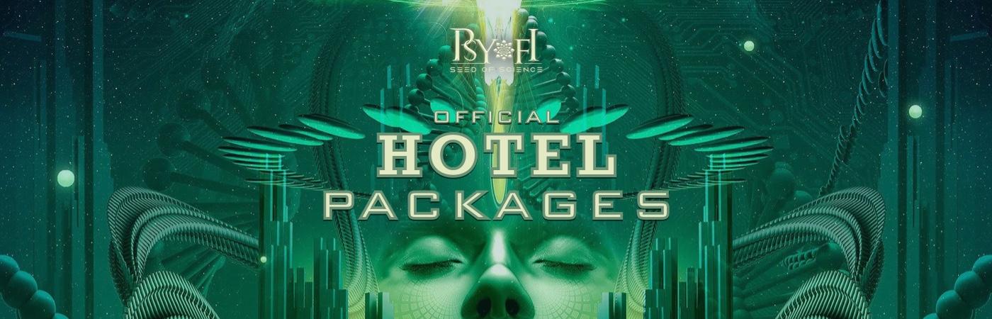 Psy-Fi Ticket + Hotel Pakketten