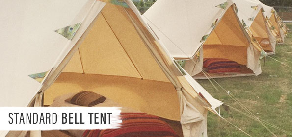 Entrada + Standard Bell Tent at Boutique Camping