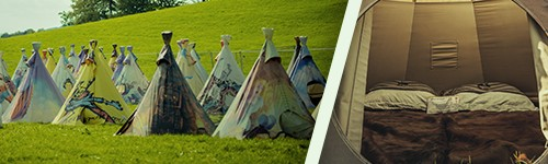 Tickets + Tipi Tent at Comfort Camping