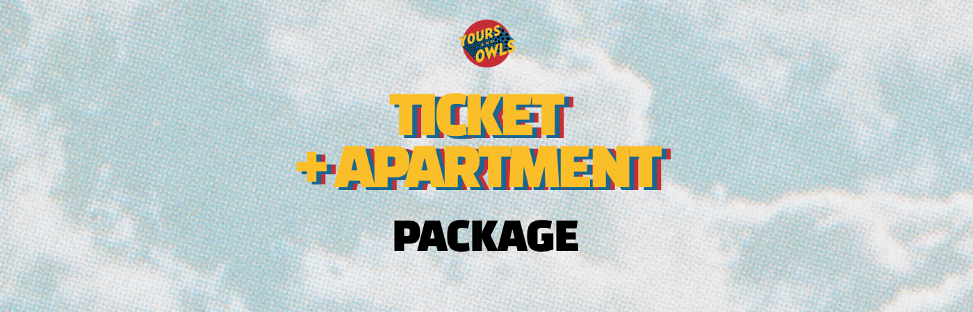 Yours & Owls Festival Ticket + Apartment Packages