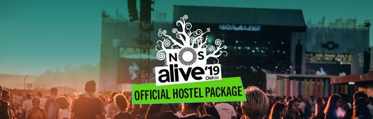 NOS Alive Ticket + Hostel Packages